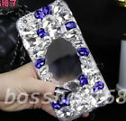 Glitter Luxury Bling Diamonds Mirror Soft TPU Gel back Case Cover with strap #1