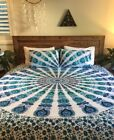 Ethnic Decor Twin/Queen Indian Tapestry Bedding Antique Decor Bedspread Coverlet