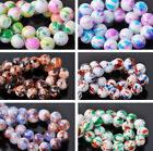 10/50pcs 12mm Round Glass Lacquer Charms Loose Spacer Beads DIY Findings