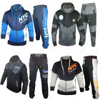 Mens Full Tracksuit Fleece Hooded Jogging Bottms Joggers - S M L XL PRINTED
