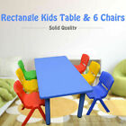 120x60cm Kids Children Playing Dining Party Study Desk Table & 6 or 8 Chairs
