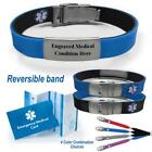 epilepsy color - Pre-engraved Sport Slim Medical Alert ID Bracelet. Choose Medical Cond.
