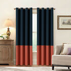 Two Tones Color Block Curtains Nursery & Infant Care Drapes Bedroom 2 Panels 52*