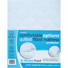 Luxury Polycotton Quilted Waterproof Fitted Mattress Protector