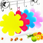 Silicone Sponge Scrubbers Kitchen Clean Up Dish Washing Pad Cleaning Supplies