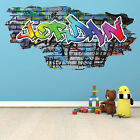 Personalised Graffiti Style Name Brick Wall Sticker Art Mural Decal Wsdpgn71