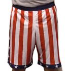 Внешний вид - Rocky Balboa American Flag Shorts Donnie Apollo Creed USA IV Red White Blue