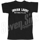 INDIAN LARRY MOTORCYCLES TEE CHOPPER TATTOO INDIAN MOTORCYCLE CHOOSE SIZE