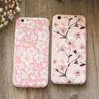 Luxury Ultra Thin Slim Flower Case Cover Pink Shockproof Soft TPU for i Phone