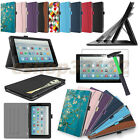 Case Cover with Pocket For Amazon Fire HD 10 10.1'' 2017 Tablet+Glass Protector