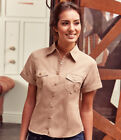 Russell Collection Ladies Short Sleeve Twill Roll Shirt Russell CollectionLadies