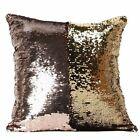 MUST HAVE Magic Letter Double Color Glitter Sequins Throw Pillow Case