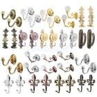 2Pcs ALLOY CRYSTAL GLASS CURTAIN TIE BACKS HOLDBACKS SCREW IN METAL TASSEL HOOK
