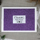 Baby Shower Guest Book - Purple Pebble - Add a Name & Message