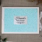 Baby Shower Guest Book - Blue Pebble - Add a Name & Message