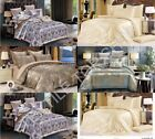 Jacquard Christmas Duvet Set With Pillow Cases Quilt Cover Bed Double King