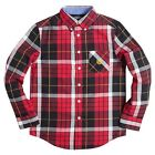 Chaps Boys Plaid Button Down Shirt Easy Care Long Sleeves size M L XL NEW
