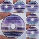 50mm Rainbow fluorite donut pendant focal bead *each one picture* 2""
