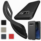 Slim Shockproof Silicone Bumper Cover Leather Case For Samsung Galaxy S8 / S8+