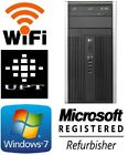 hp Intel Dual Core Tower Windows 7/10 160GB 4GB/8GB WiFi PC Desktop DVD/RW