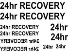 * 16  X 24hr recovery WATERSLIDE DECAL choice of colours IDEAL FOR  CODE 3s
