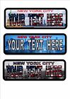 New York City Personalised  Number Plates American Style Personalised Plate