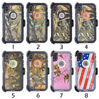 Camo Shockproof Case For iPhone X XS Max XR 6 7 8 ,Clip Fits Otterbox Defender