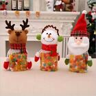Christmas Candy Bottle Jar Storage Case Gift Box Santa Jars Container Decor - S