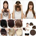 UK Clip In Bangs Fringe Fake Hair Extensions Real Soft Straight Front Hair Bang