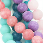 10mm Frosted Round Matte Agate Beads Semi-precious Gemstone for Jewellery Making