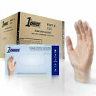 1st Choice Clear Exam Vinyl Latex Free Disposable Gloves (Case of 1000)