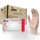 1st Choice Clear Vinyl Industrial Latex Free Disposable Gloves (Case of 1000)