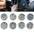 Hot New Alloy Car Vent Air Freshener Aroma Locket Perfume Clips Oil Diffuser