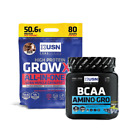 USN Grow-XL All-In-One Protein Anabolic Lean Mass 4kg FREE Amino Gro BCAA