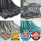 New Crushed Velvet Charcoal & Silver Sofa Bed Throw or Cushion Cover 150 x 200cm