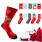 Mens&Womens Christmas Xman Cotton Socks Santa Snowman Snowflake Socks Gifts