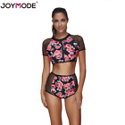 Women Floral  Swimwear Two Preces Bikini Beach Bathing Suit Empire Waist Rose