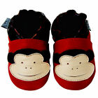Free shipping Newborn Prewalker Soft Sole Leather Baby Shoes Monkey Red0-5 years