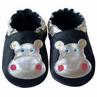 Free shipping Prewalker Infant Soft Sole Leather Baby Shoes Hippo Navy 0-5 yrs