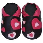 Free shipping Prewalker infant Soft Sole Leather Baby Shoes Hearts Brown 0-5 yrs