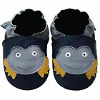Free shipping Newborn Prewalker Soft Sole Leather Baby Shoes Frog Navy 0-5 years