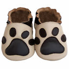 Free shipping Newborn Prewalker Soft Sole Leather Baby Shoes Paw Beige 0-5 years