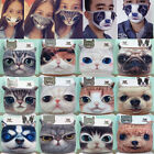 Cute 3D Cat Dog Face Unisex Cycling Anti-Dust Cotton Mouth Face Mask Respirator
