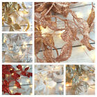 180CM Glitter Leaf Christmas Garland Champagne Rose Gold Silver White Red Blue