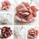 Frosted Rose or Poinsettia christmas tree Decoration. Flower Blush Pink White