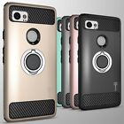 For Google Pixel XL 2 Hybrid Armor Protective Ring Phone Cover Hard Case