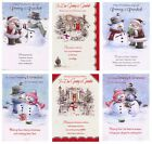 CUTE GRANNY AND GRANDAD  CHRISTMAS CARD VARIOUS DESIGNS 1STP&P GREETING CARD