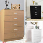 Chest Of 5 Drawers Bedside Dressing Table Hallway Storage Cabinet Solid Wooden