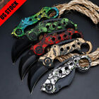 Portable All Stainless Steel Floding Knife Claw Karambit Blade Rescue Knifes