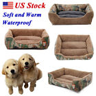 Pet Dog Cat Bed Soft Puppy Camo Cushion House Warm Kennel Dog Mat Pad Blanket